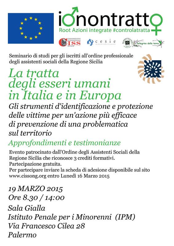 La tratta degli esseri umani in Italia e in Europa - seminario