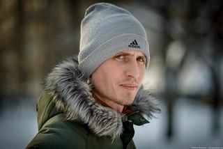Marat / Stranger portrait / On the street / Novosibirsk / Siberia / 04.03.2015