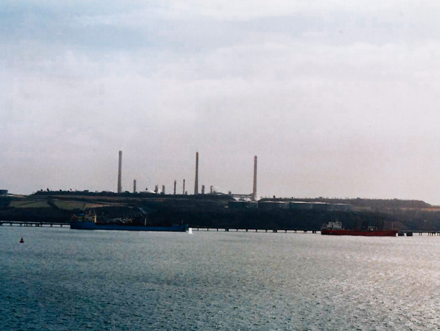 oil refineries as seen from milford haven