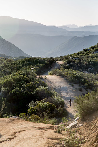 california woman mountain dawn unitedstates running el lakeside trail cajon