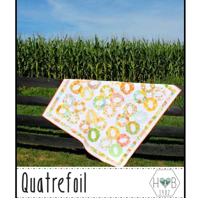 And here is our other new @heartsandbees pattern, Quatrefoil!!! See link in profile. I'll be posting more pictures later of other sizes and alternatives. @a_2_w made a beautiful version of this with AMH!