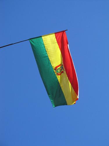 La Paz: le drapeau bolivien