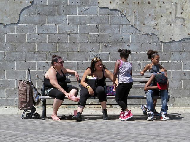 Bench People - Coney Island Boardwalk
