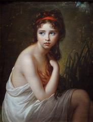 VIG�E-LE BRUN Elisabeth,1792 - Julie Le Brun, en Baigneuse - 0