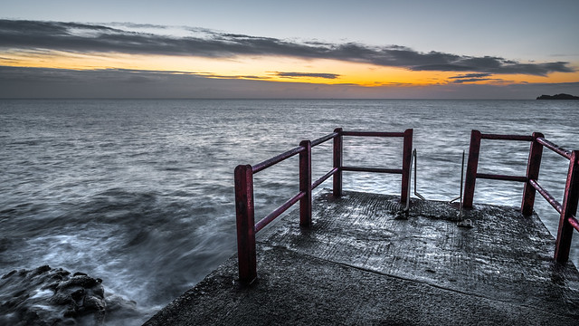 View on the sunrise - Dublin, Ireland - Seascape photography