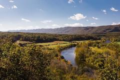 Shenandoah never ceases to amaze!!!                                ----------------------------                                                           #fallcolors #shenandoah #shenandoahnationalpark #river #view #breathtaking #mountains #sky #skyline #