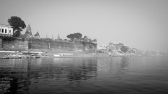 india LR varanasi - the ghats from the ganga