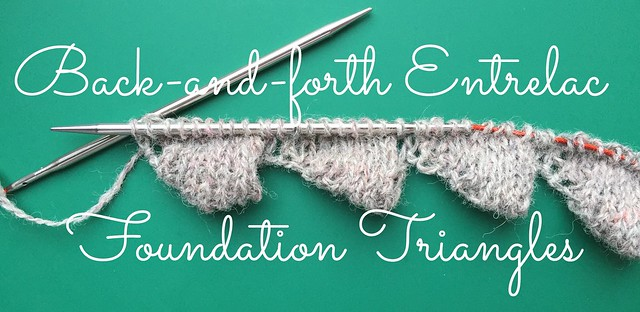 Entrelac tutorial part 1 - foundation triangles