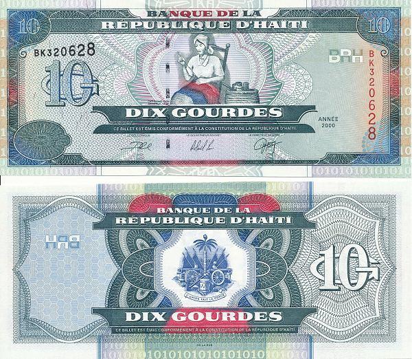 10 Gourdes Haiti 2000, Pick 265