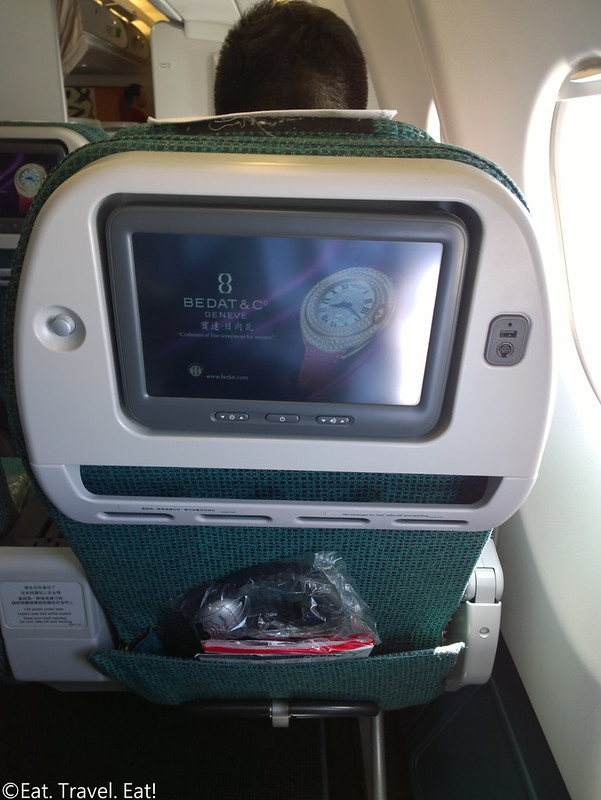 Cathay Pacific CX 391 (PEK- HKG): Premium Economy Seating