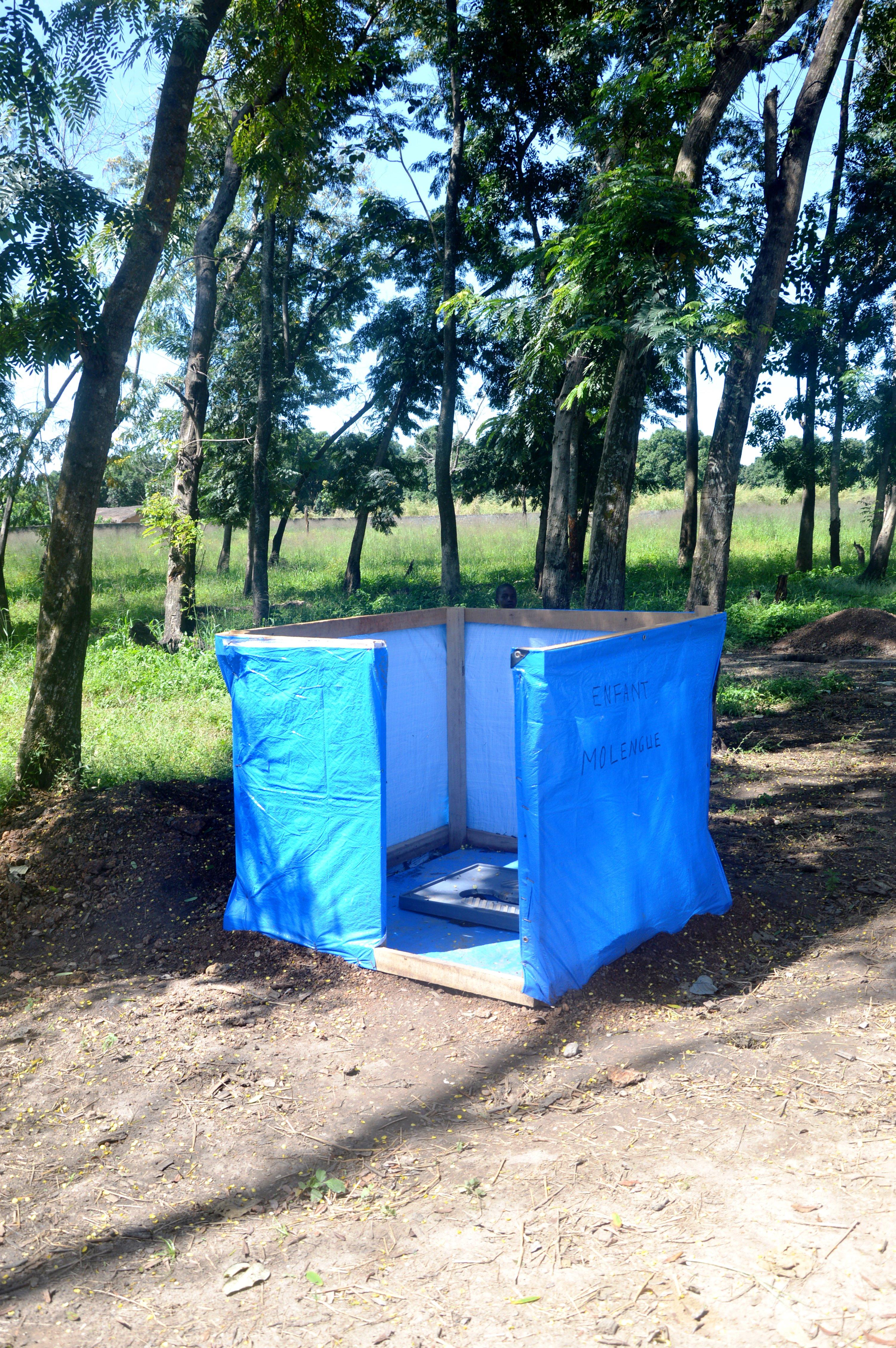 Latrine for children in Bossangoa, Central African Republic. Photo: Virginie Le Masson/ODI