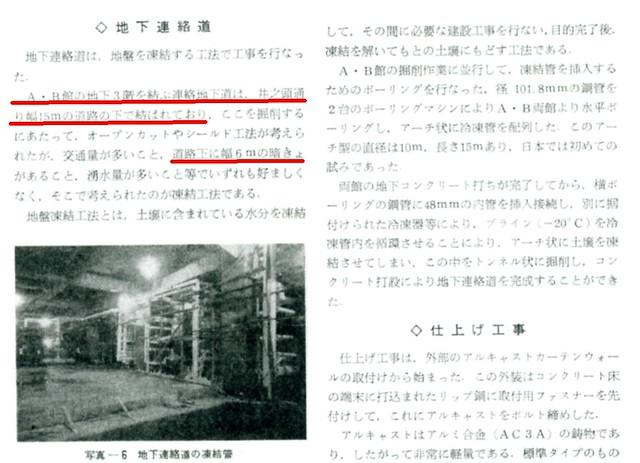 西武百貨店渋谷店A館とB館を結ぶ地下通路2