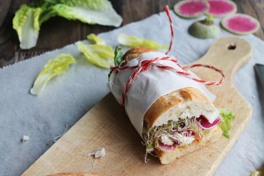 Sandwich poulet recette