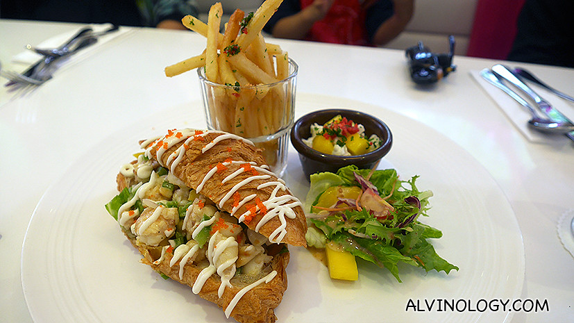 My favourite of the five: Cherie's Slipper Lobster Croissant