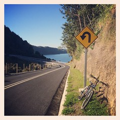 Peligro curva cerrada! Cicletada hacia Detif.