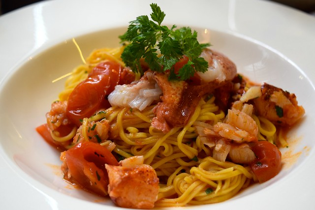 Tagliolini with Lobster, Sweet Chili & Cherry Tomatoes at Toto's, Knightsbridge