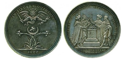 Antichristian Confederacy 1688 Silver Medal by J Smelzing
