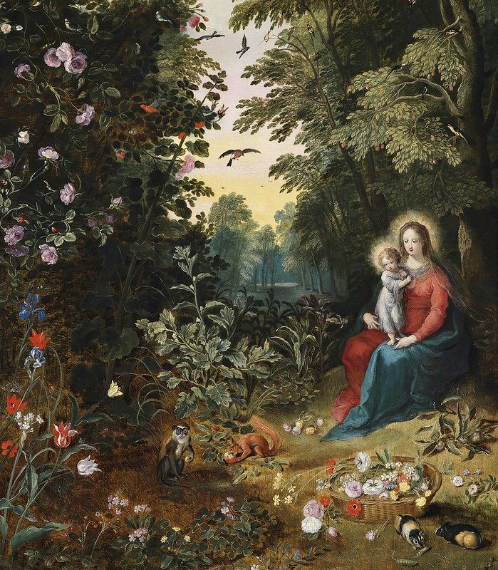 Jan Brueghel II - Landscape with Virgin and Child
