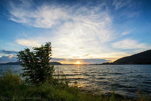 sunset lake papua danau sentani