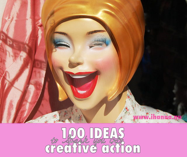 100 IDEAS for Creative Action by iHanna. Photo is Fröken Glad in Stockholm (Copyright Hanna Andersson)