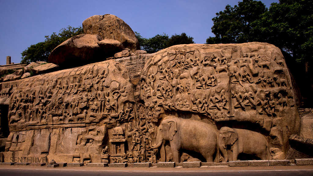 Stone carving, Mahabalipuram, Tamil Nadu
