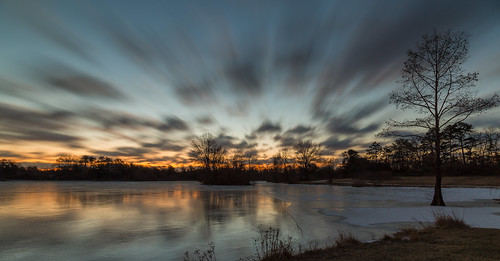 longexposure morning winter sky lake ice clouds dawn frozen pond cloudy january canon24105mmf4l buschwildlife canon5dmkiii