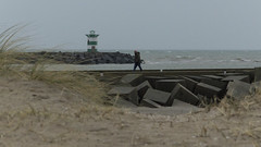 Fighting the wind, Scheveningen, 15-01-2015