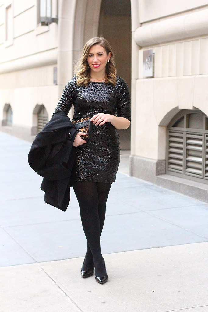 Black Sequins Party Dress | Outfit | #LivingAfterMidnite