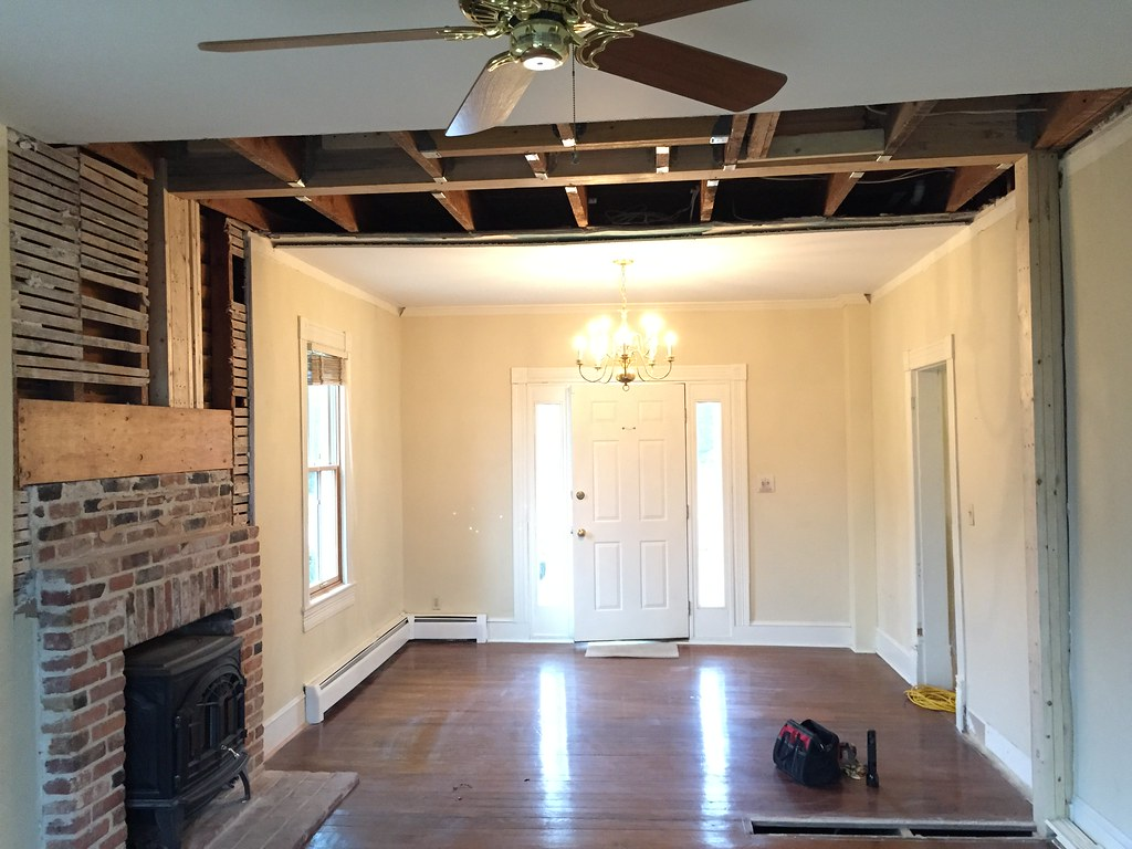 A Bear of a Task: Removing the Load Bearing Wall - Old Town Home