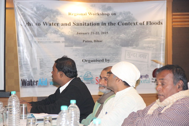 Regional Level workshop on Right to Water and Sanitation held at Patna on 21st and 22nd January, 2015