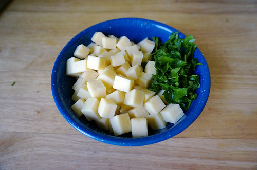 Mozzarella and parsley