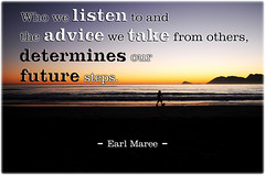 Quote About Listening, Advice and Future