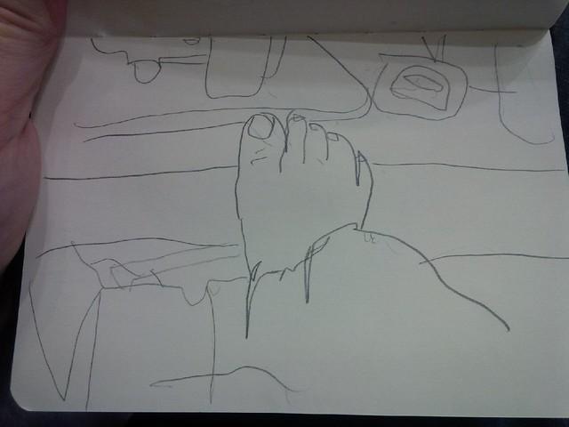 Theresa's foot