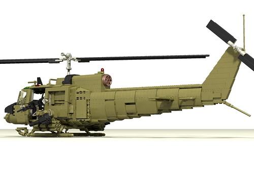 UH-1C Huey Hog rear left