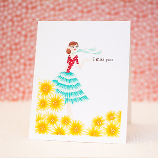 Penny Black: One Layer Spring Card Idea