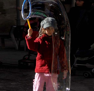 267) - playing with soap bubbles