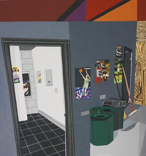 Jonas Wood, Studio Hallway, 2010