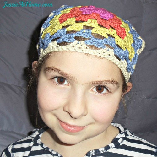 Cotton Bamboo Head Scarf Free Crochet Pattern Jessie At Home
