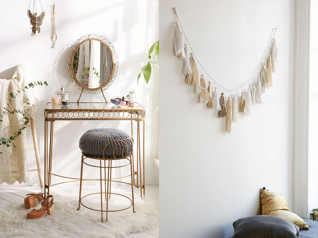 dressing table and ribbon pennant from urban outfitters boho beach style