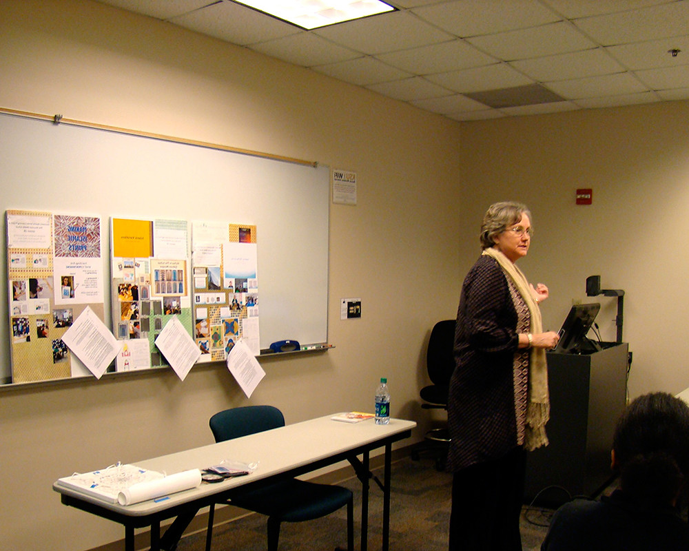 Dr.-Sandra-Bird-at-Kennesaw-State-Art-Research