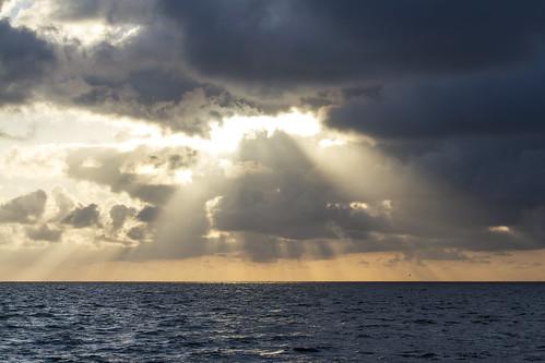 sunset sea sunlight seascape clouds germany deutschland sunrays schleswigholstein nordfriesland dagebüll dagebüllhafen doogebel dagebøl