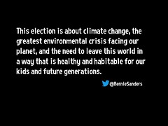 This election is about climate change, the greatest environmental crisis facing our planet