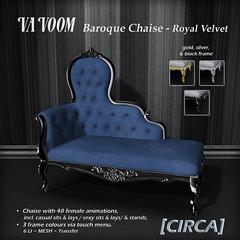 VaVoom - Baroque Chaise - Royal Velvet