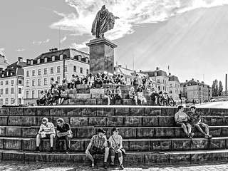 Stockholm - Denkmal König Gustav III