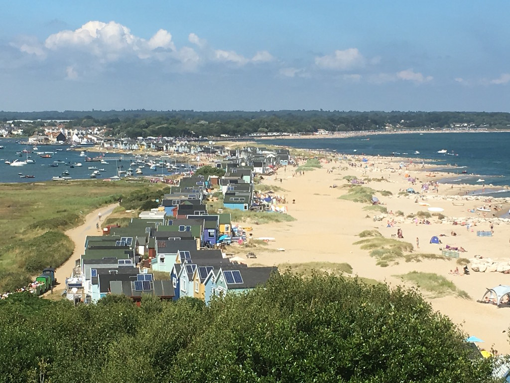 Mudeford Spit from Hengistbury Head Barton to Bournemouth walk