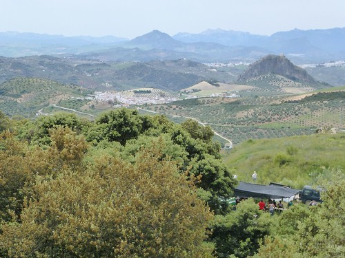 Romeria in Pruna: view towards Pruna and Olvera