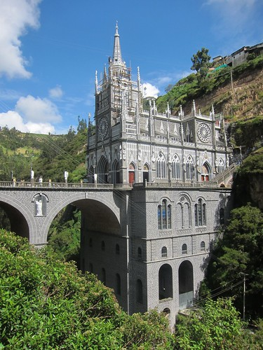 Las Lajas, built into the side of the canyon
