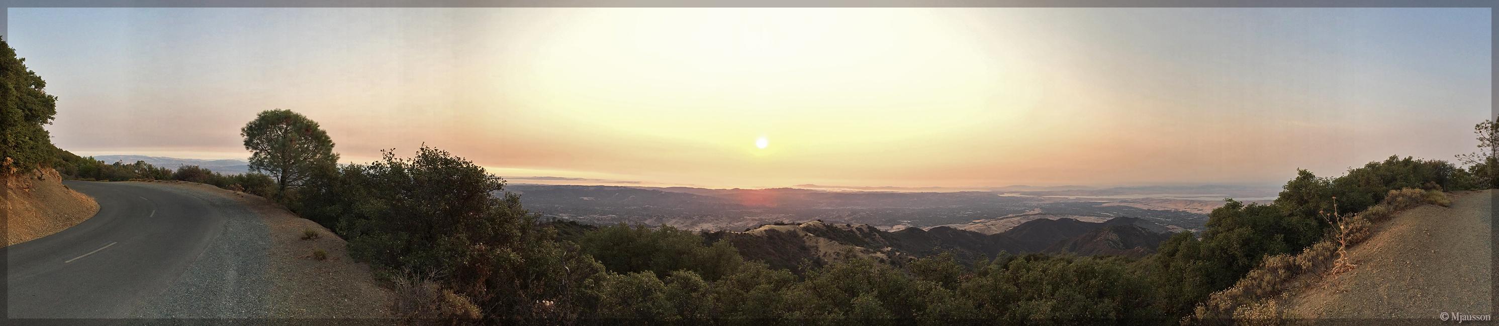 Sunset at Diablo Valley Overlook