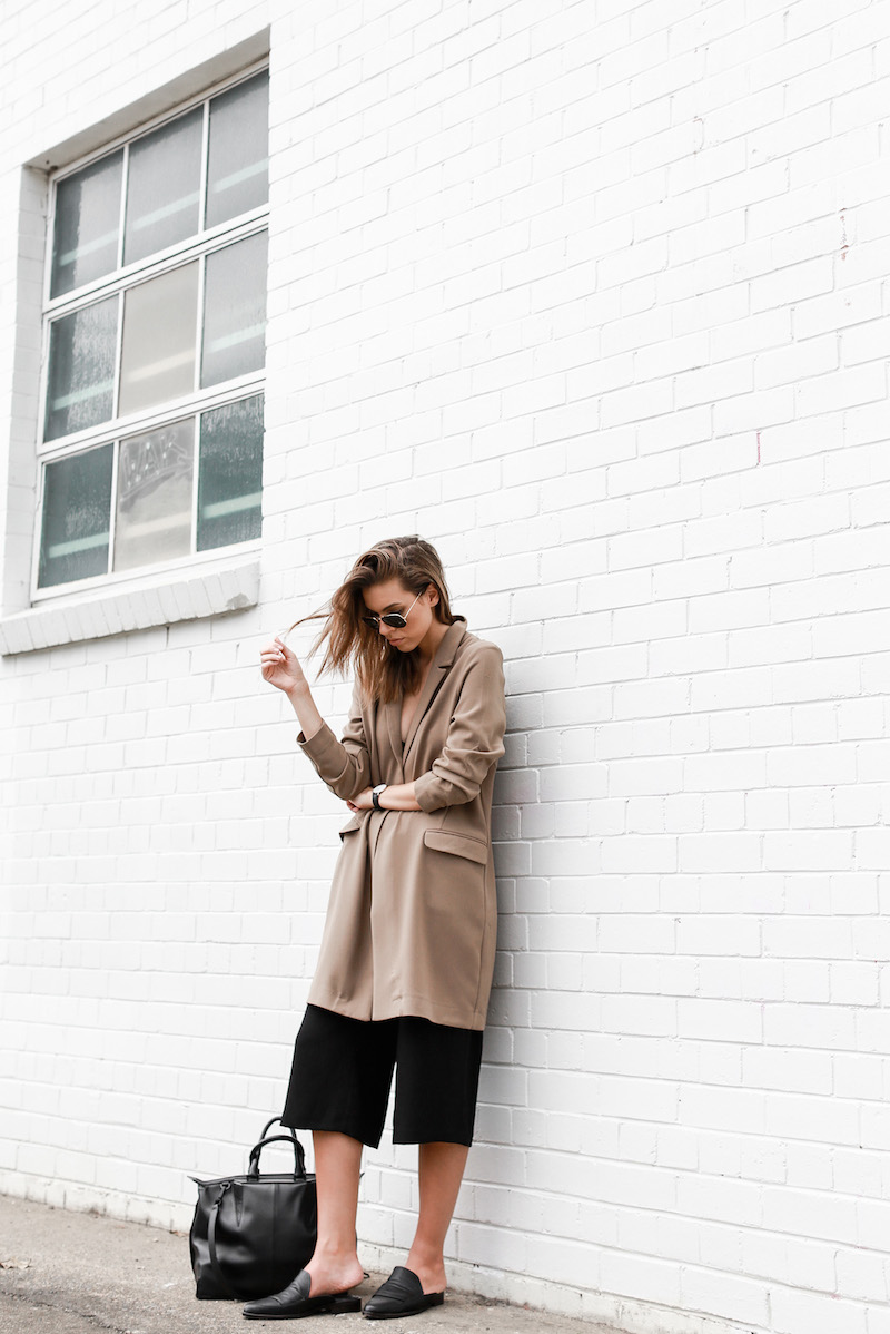 MODERN LEGACY fashion blog street style camel coat blazer culottes loafer mules (14 of 14)