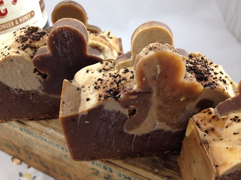 Beer soap made with Hardywood Park Craft Brewery's Gingerbread Stout Beer